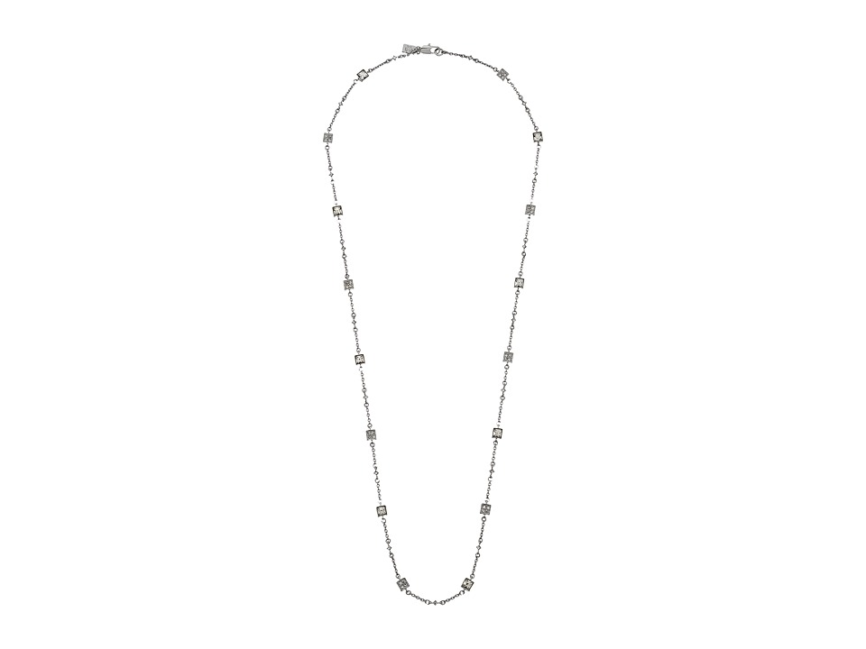 LAUREN Ralph Lauren - 32 in Square Faceted Stones Illusion with Lobster Closure Necklace (White) Necklace