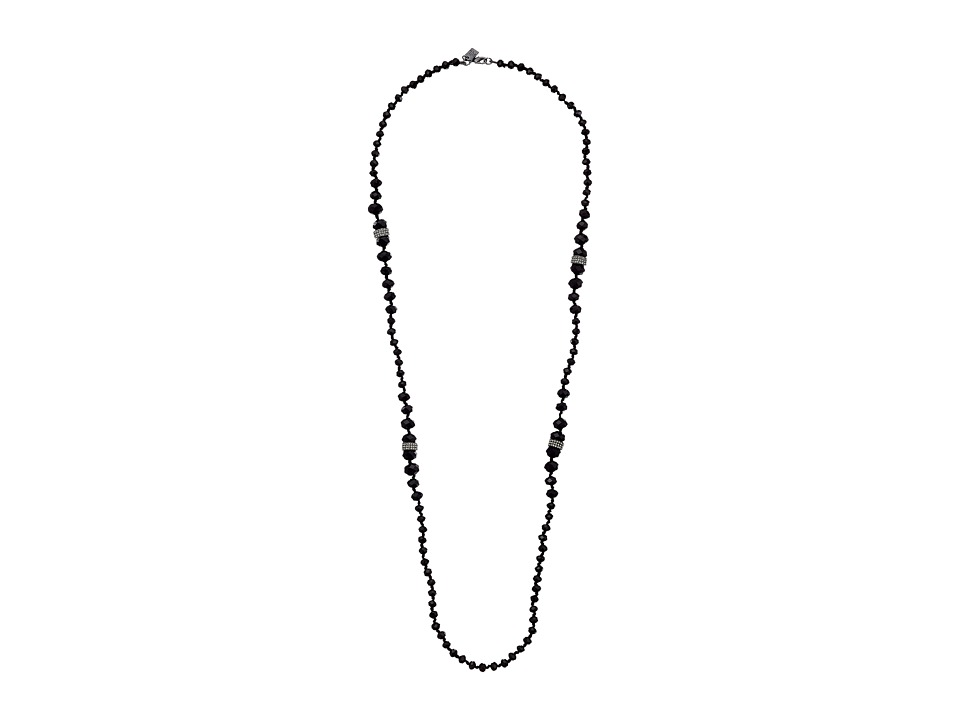 LAUREN by Ralph Lauren - 34 in Graduated Faceted Jet Bead with Lobster Clsuroe Necklace (Black) Necklace