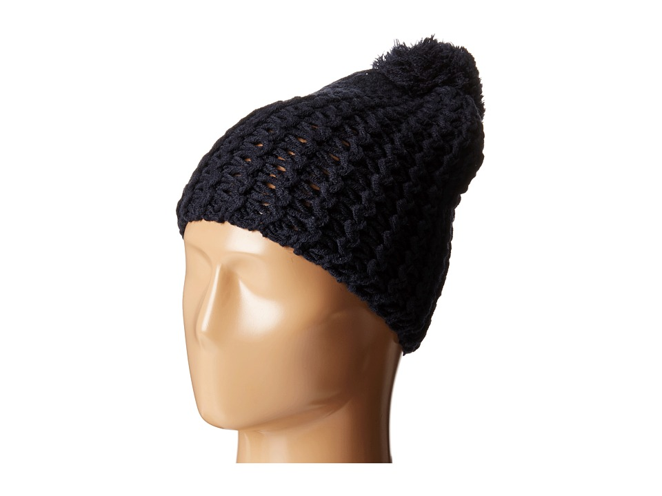 Hat Attack - Chevron Knit Skully (Navy) Knit Hats