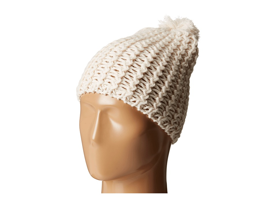 Hat Attack - Chevron Knit Skully (Ivory) Knit Hats