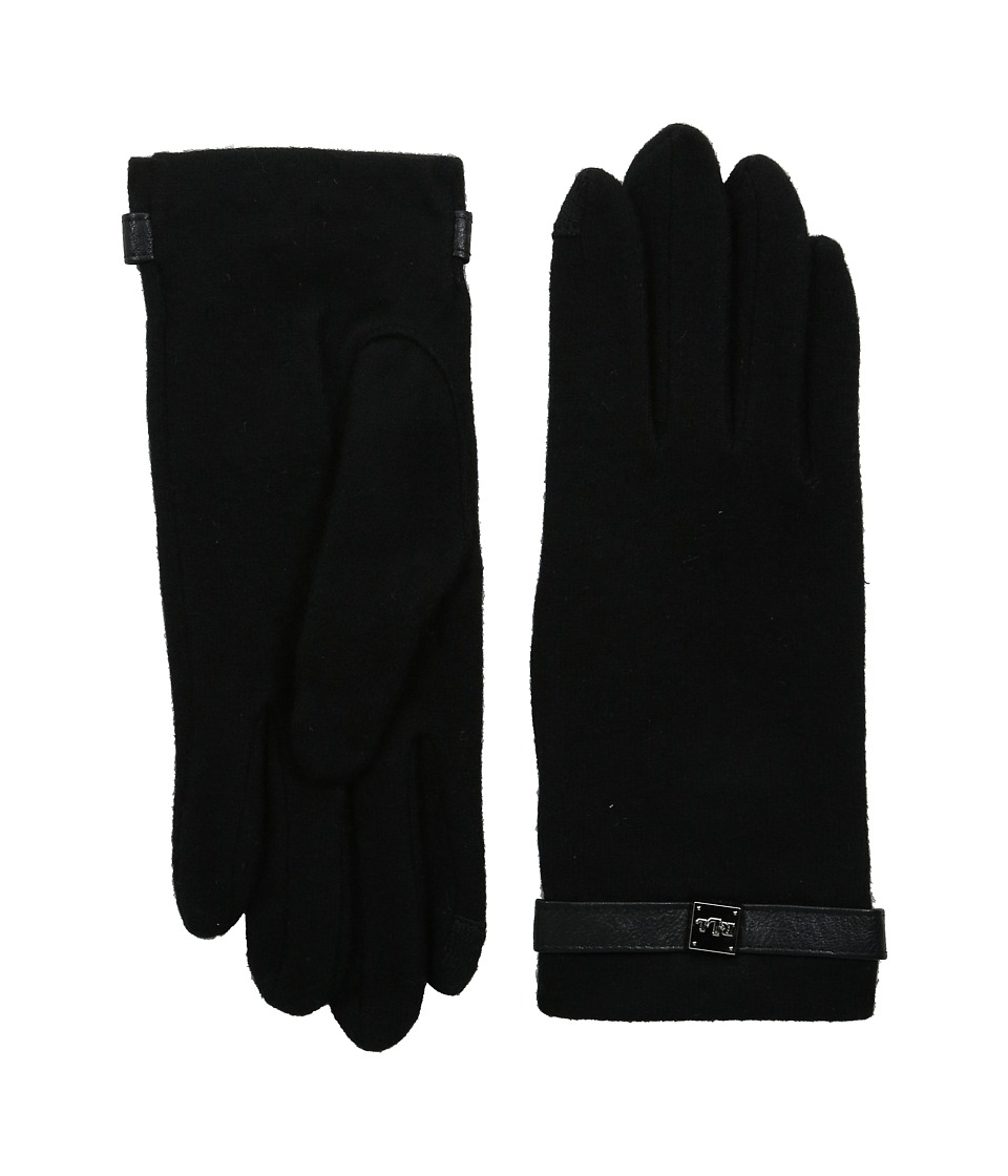 LAUREN Ralph Lauren - Logo Cube Belted Touch Glove (Black) Wool Gloves