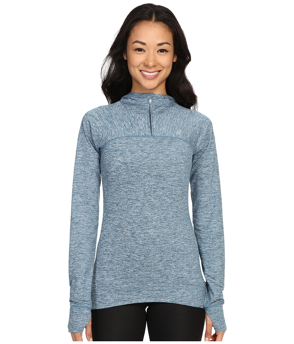 ASICS - ASX Half Zip Hoodie (Ink Blue) Women's Long Sleeve Pullover