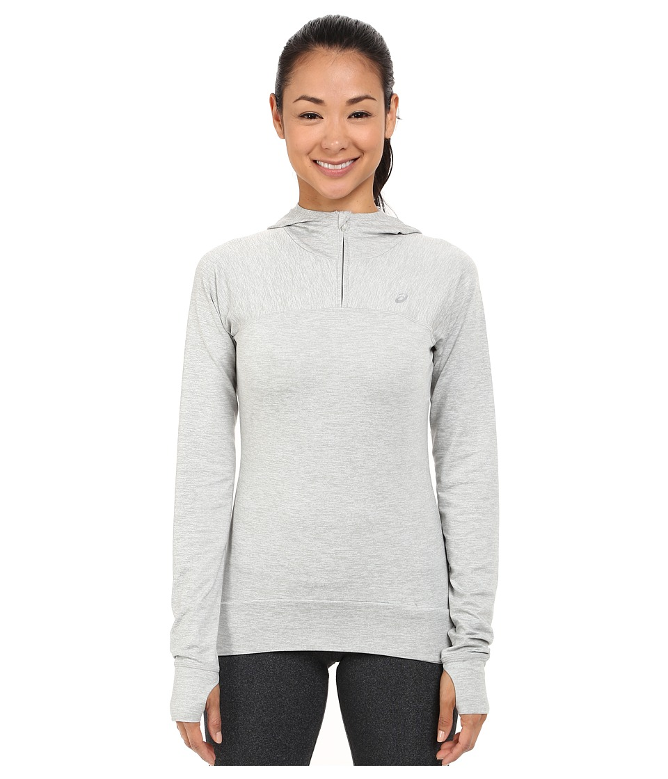 ASICS - ASX Half Zip Hoodie (Light Grey) Women's Long Sleeve Pullover