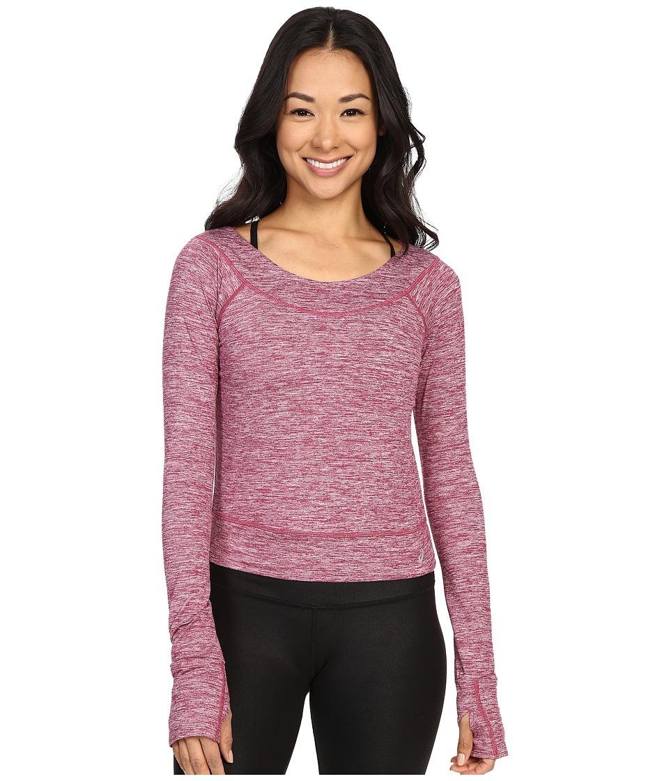 ASICS - ASX Lux Long Sleeve Top (Plum) Women's Long Sleeve Pullover