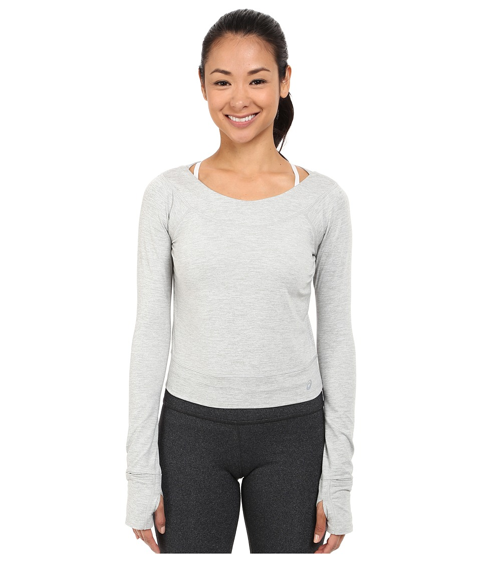 ASICS - ASX Lux Long Sleeve Top (Light Grey) Women's Long Sleeve Pullover