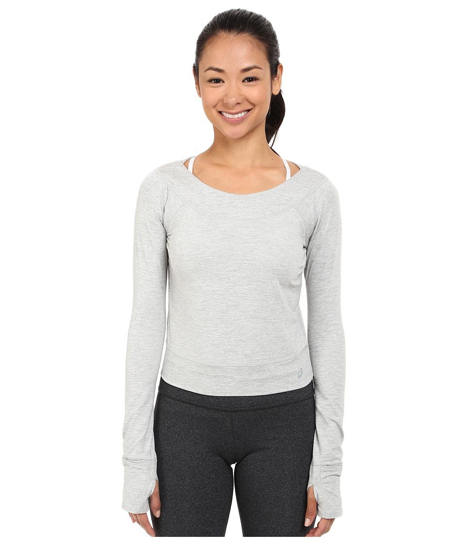 ASICS - ASX Lux Long Sleeve Top (Light Grey) Women's Long Sleeve Pullover
