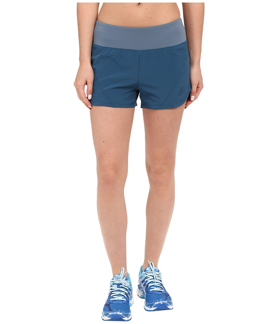 ASICS - Woven 2-in-1 Shorts (Ink Blue) Women's Shorts