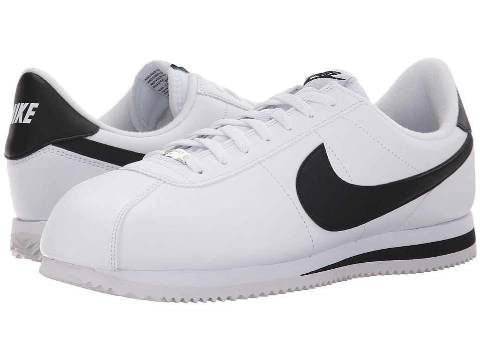 Nike - Cortez Leather (White/Metallic Silver/Black 1) Men's Shoes