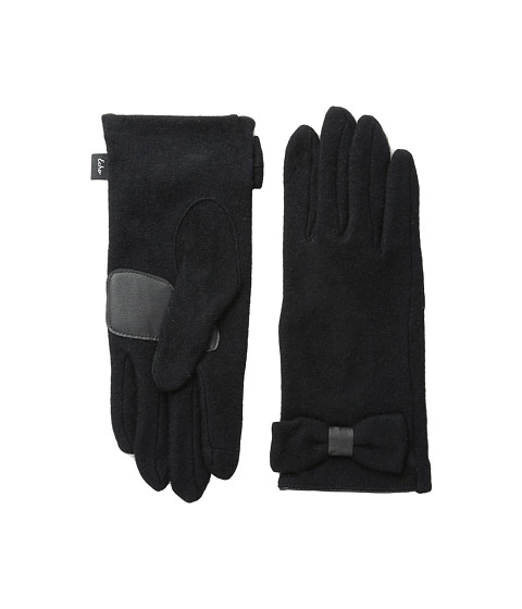 Echo Design - Touch Bow Detail Gloves (Black) Dress Gloves