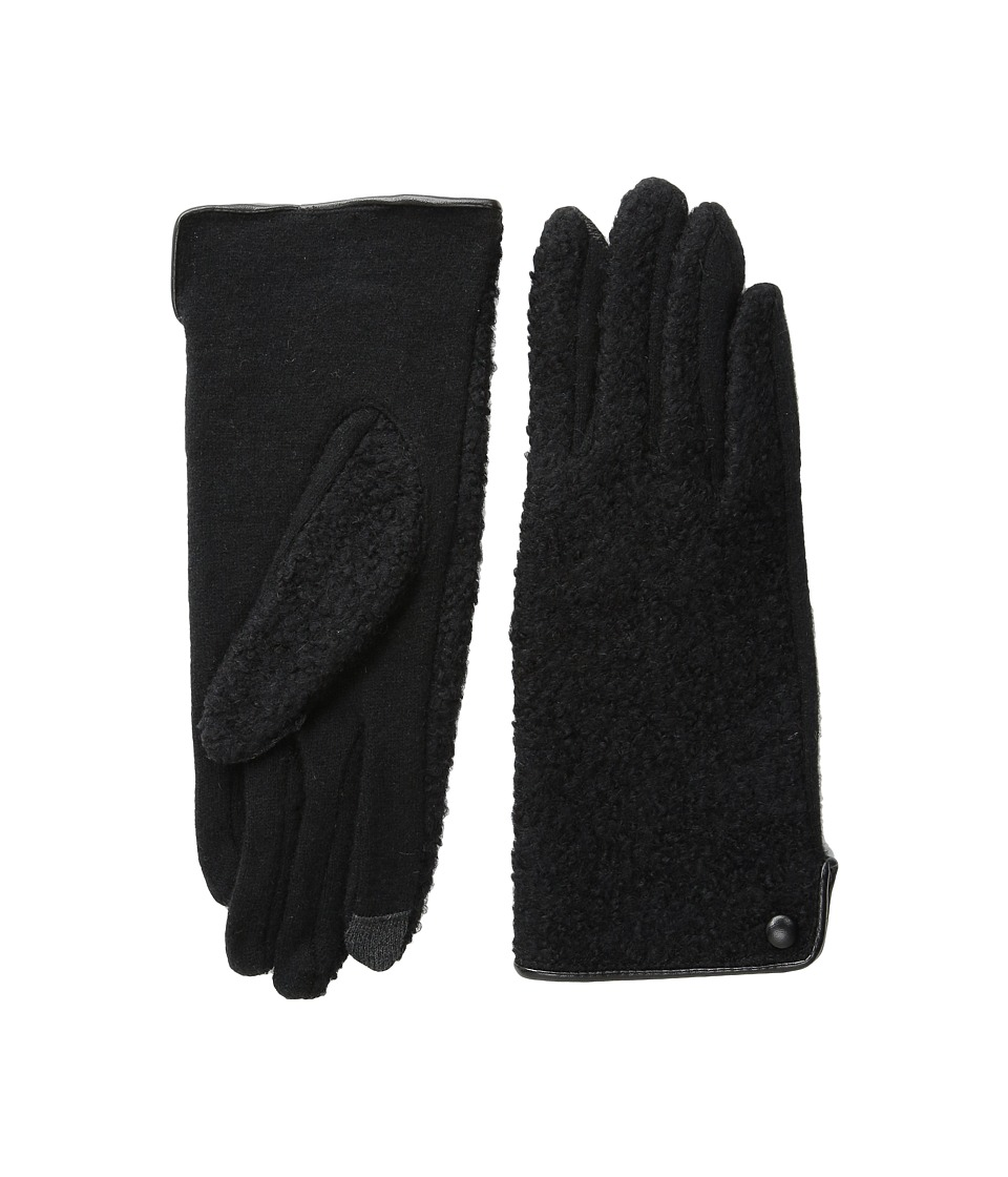 Echo Design - Touch Boucle Gloves (Black) Dress Gloves