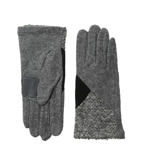 Echo Design - Touch Mixed Metallic Boucle Gloves (Grey Heather) Dress Gloves