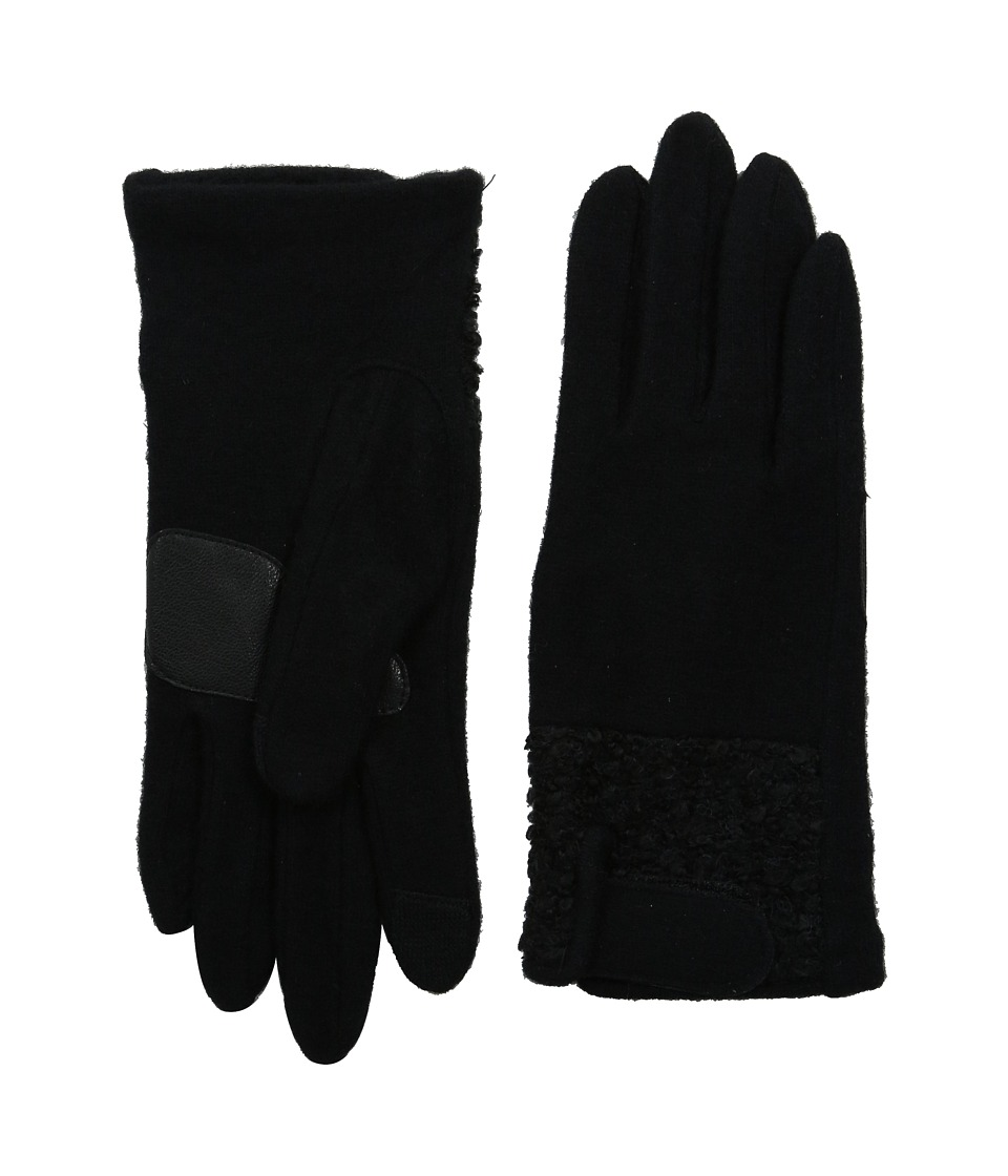 Echo Design - Touch Boucle Tab Gloves (Black) Dress Gloves
