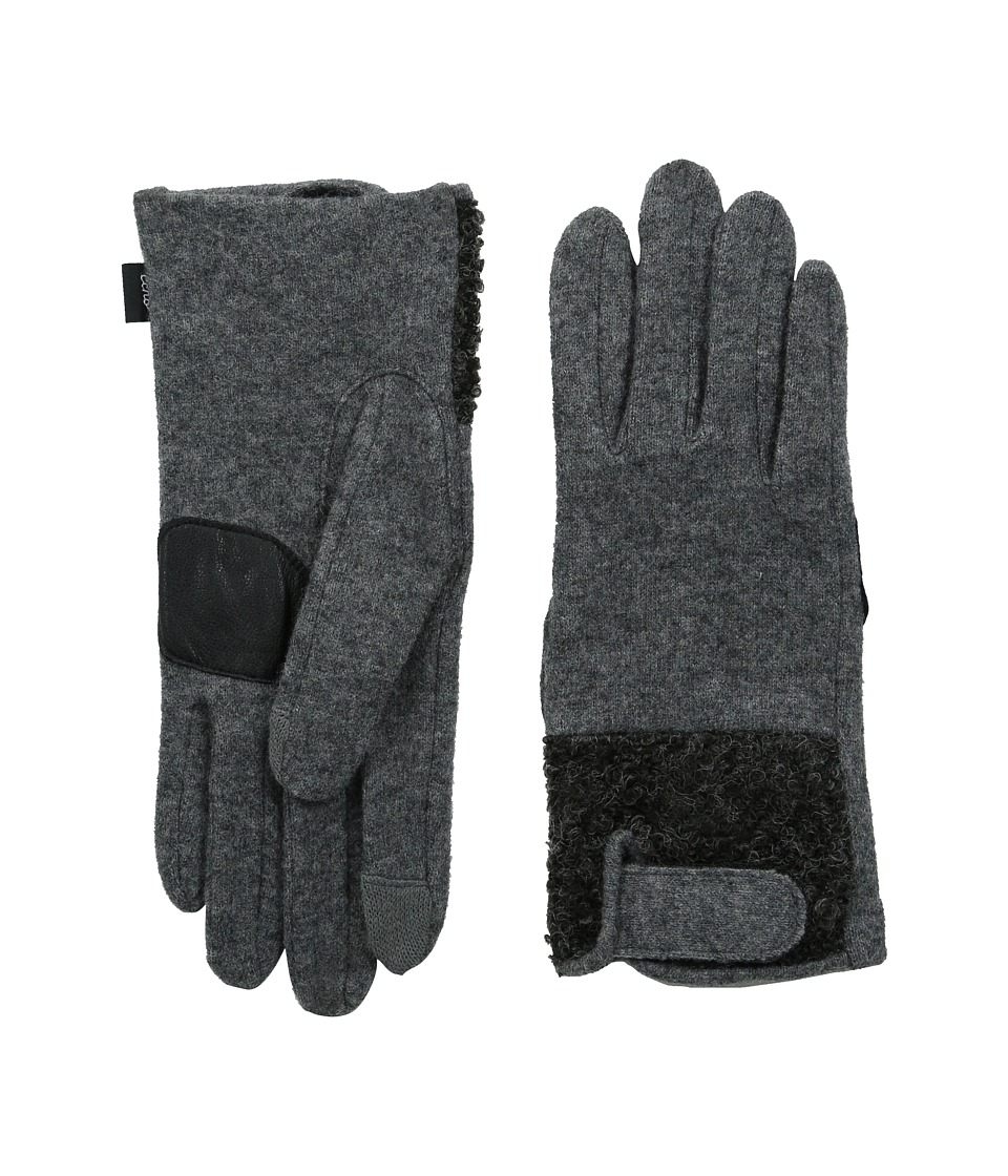 Echo Design - Touch Boucle Tab Gloves (Grey Heather) Dress Gloves