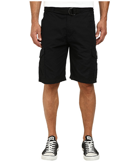 UNIONBAY - Alfie Belted Cargo Shorts (Black/Belt) Men's Shorts