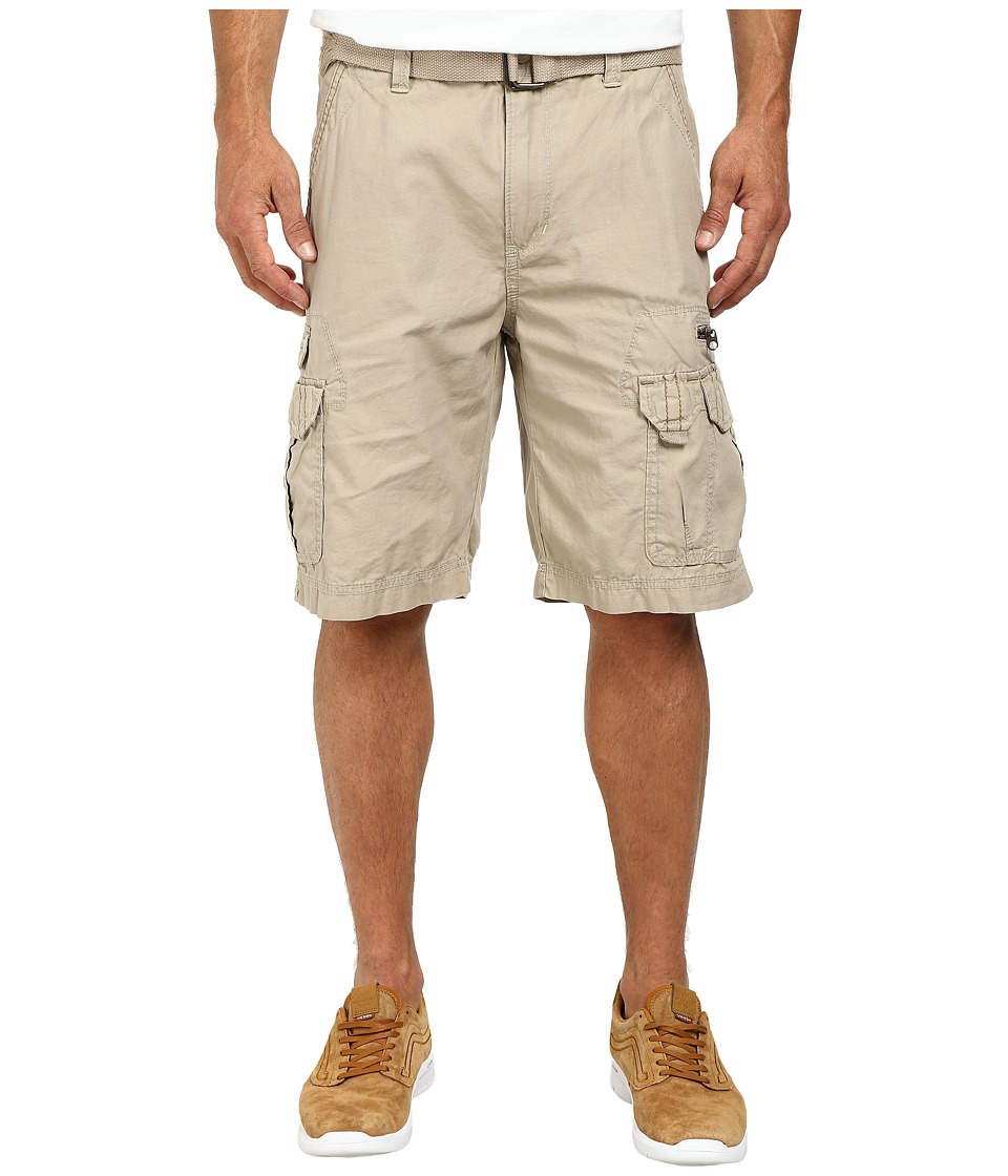 UNIONBAY - Bailey Belted Cargo Short (Desert/Belt) Men's Shorts