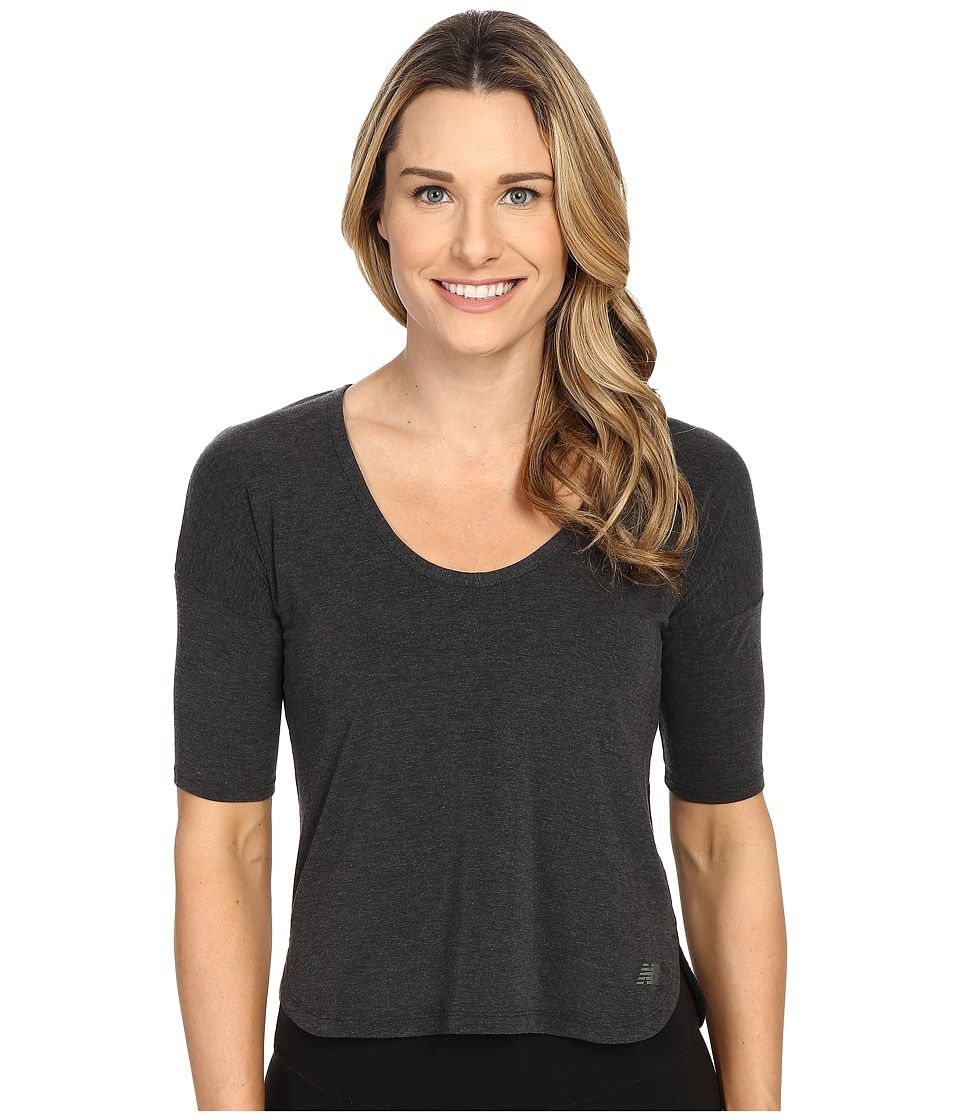New Balance - Favorite Tee (Black) Women's Short Sleeve Pullover
