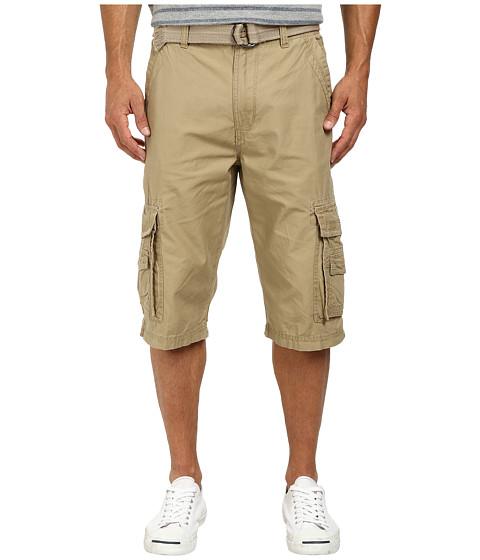 UNIONBAY - Cordova Belted Cargo Short (Grain/Belt) Men