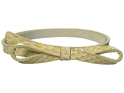 Lodis Accessories - Huron Snake Skinny Bow Waist Belt (Taupe) Women