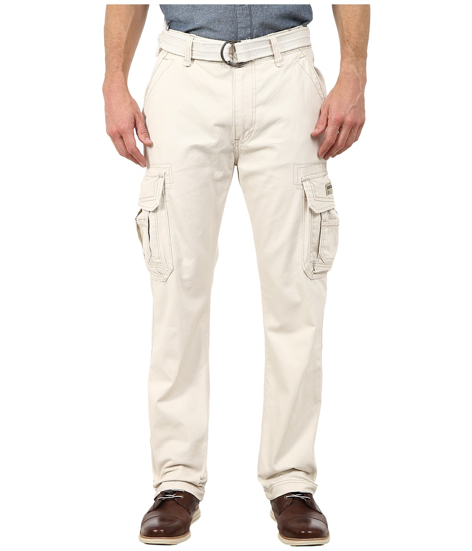 UNIONBAY - Survivor IV Belted Cargo Pant (Stone/Belt) Men's Casual Pants