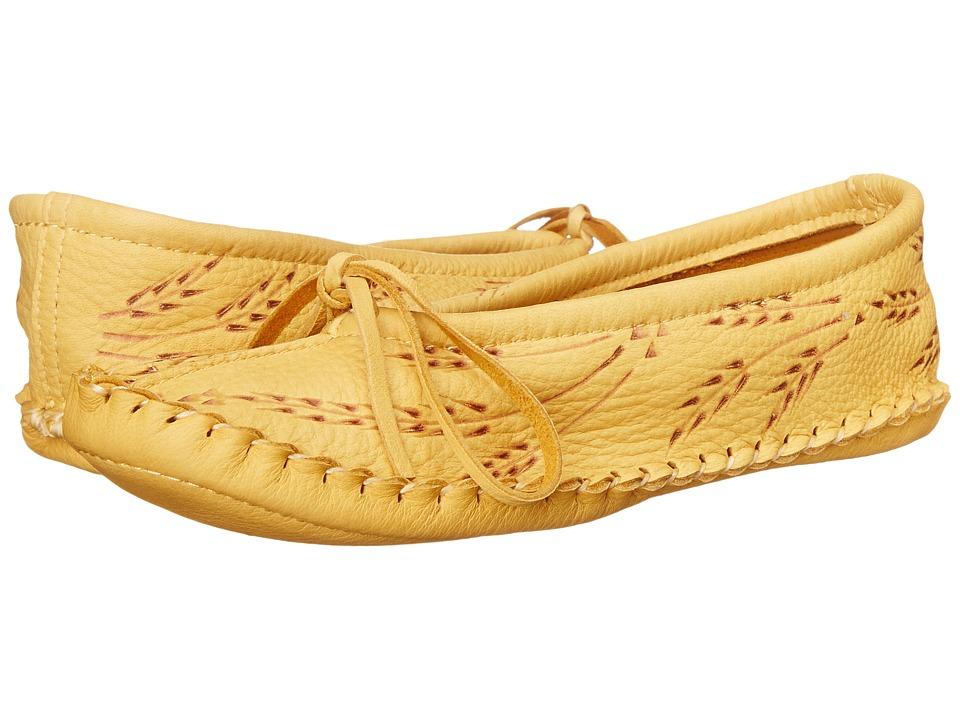 Manitobah Mukluks - Deerskin Slipper Wheat Design (Tan) Women's Slippers
