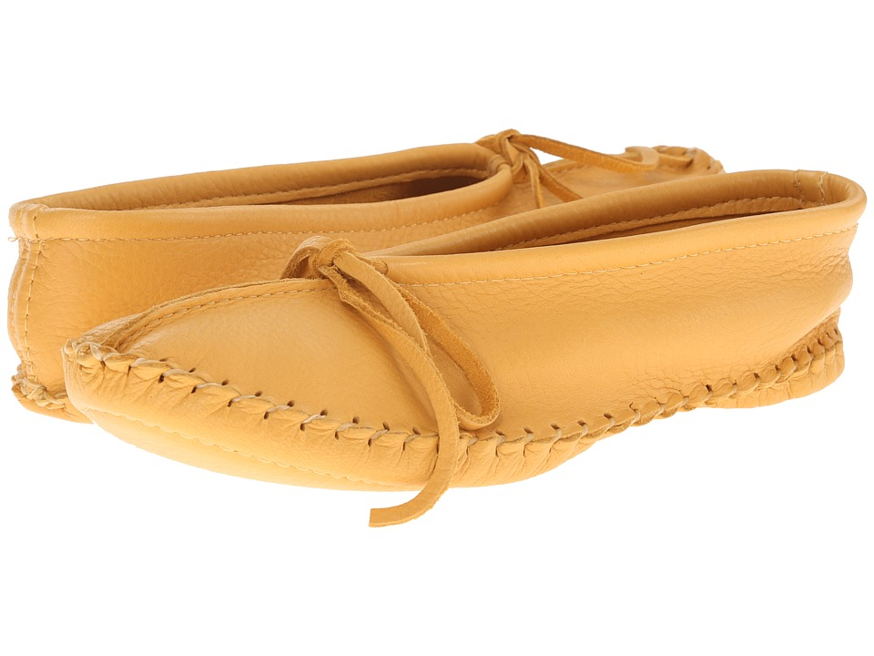 Manitobah Mukluks - Deerskin Slipper Solid Design (Tan) Women's Slippers