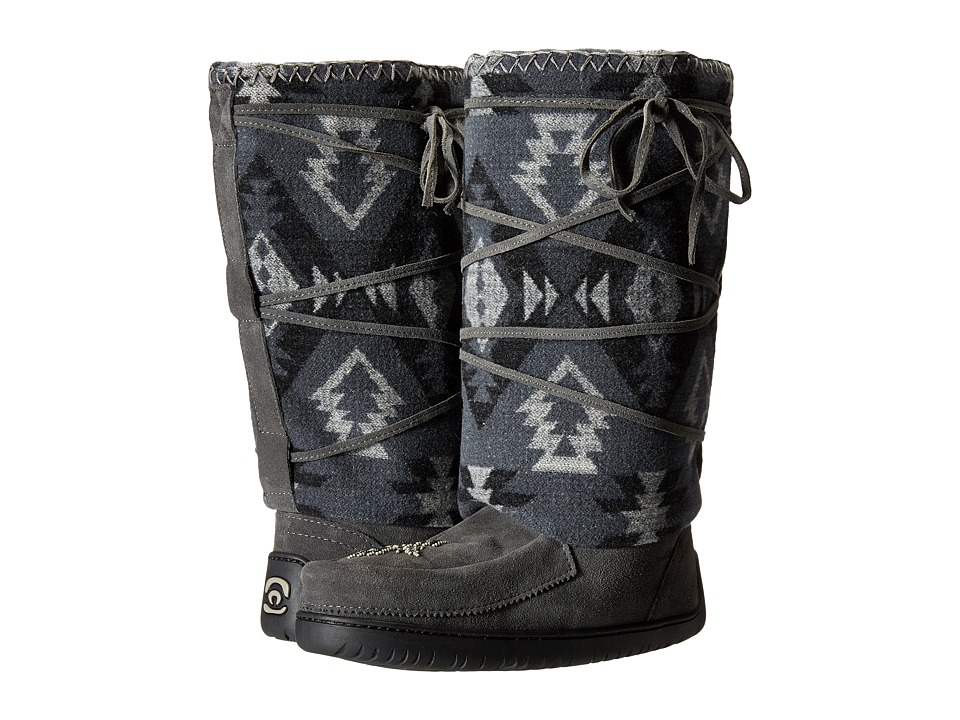 Manitobah Mukluks - Wool Lace-Up Mukluk (Charcoal) Women's Boots