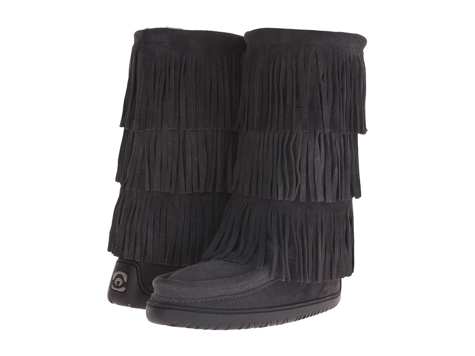 Manitobah Mukluks Buffalo Dancer Boot Vibram (Charcoal) Women