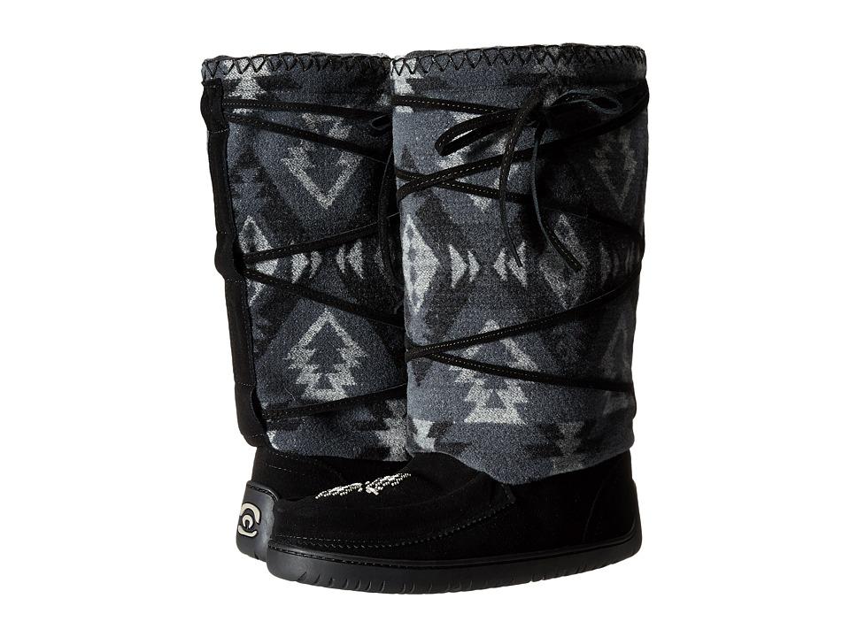 Manitobah Mukluks Wool Lace-Up Mukluk (Black) Women