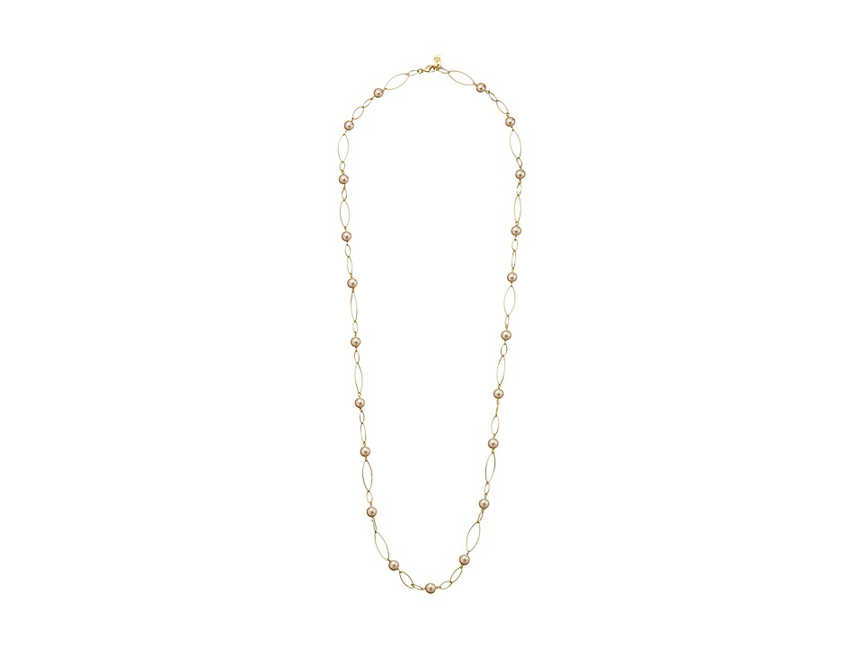 LAUREN by Ralph Lauren - 36 in Oval Link 8mm Pearl with Lobster Closure Necklace (Gold) Necklace