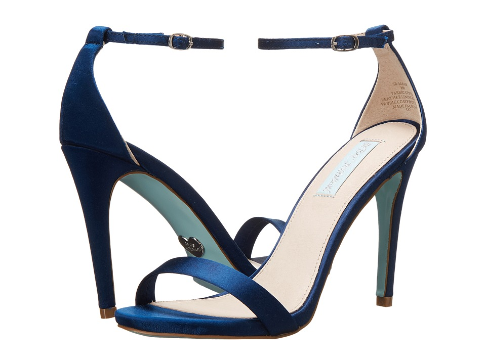 Blue by Betsey Johnson - Sarah (Navy Satin) High Heels