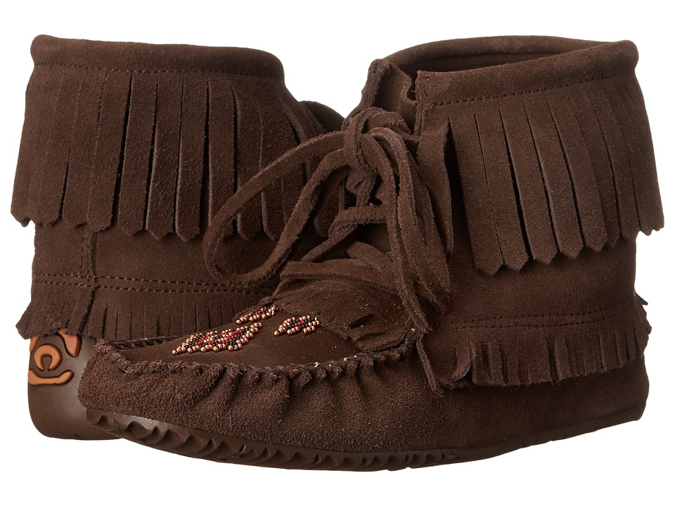 Manitobah Mukluks - Harvester Moccasin (Chocolate) Women's Slippers