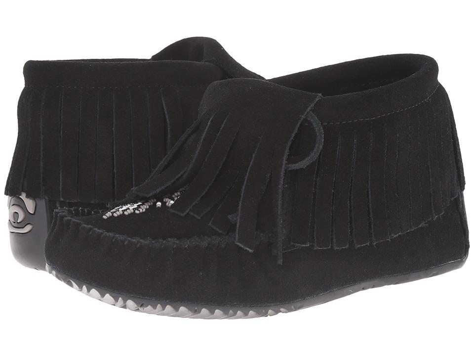 Manitobah Mukluks Paddle Suede Moccasin Vibram (Black) Women