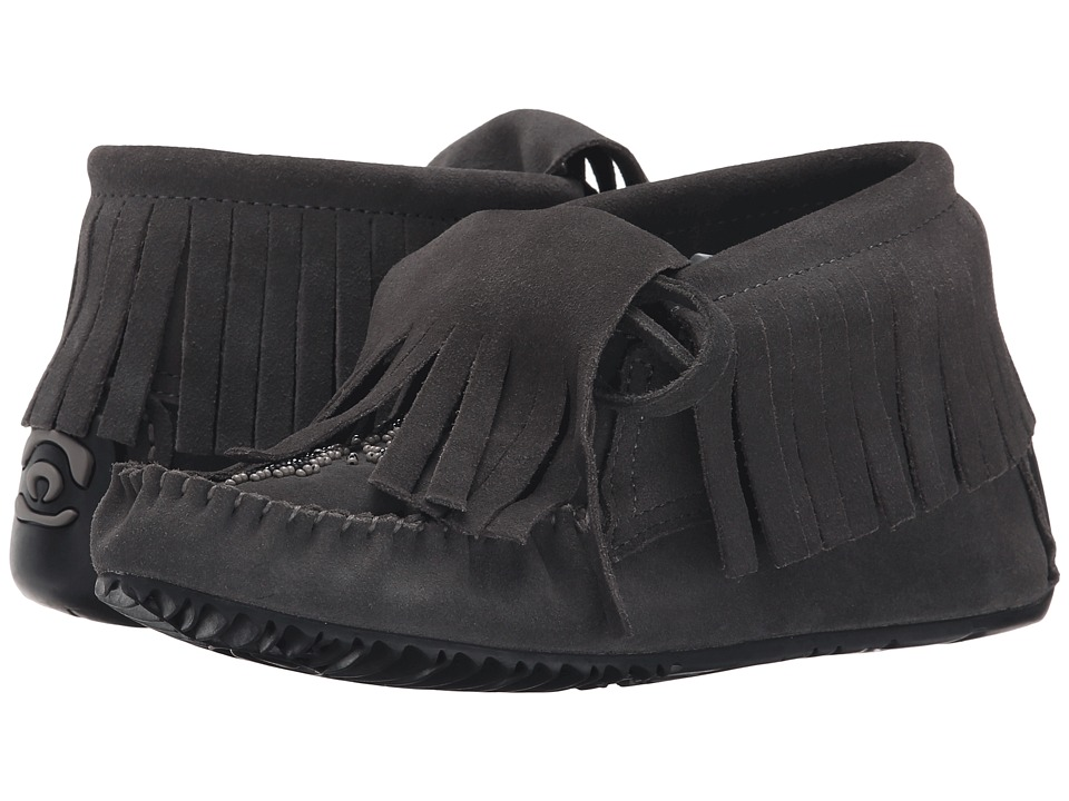 Manitobah Mukluks - Paddle Suede Moccasin Vibram (Charcoal) Women's Boots