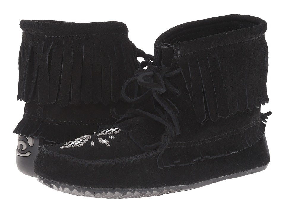 Manitobah Mukluks - Harvester Moccasin (Black) Women's Slippers