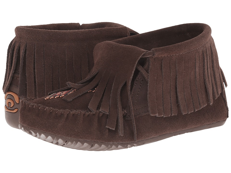 Manitobah Mukluks - Paddle Suede Moccasin Vibram (Chocolate) Women's Boots