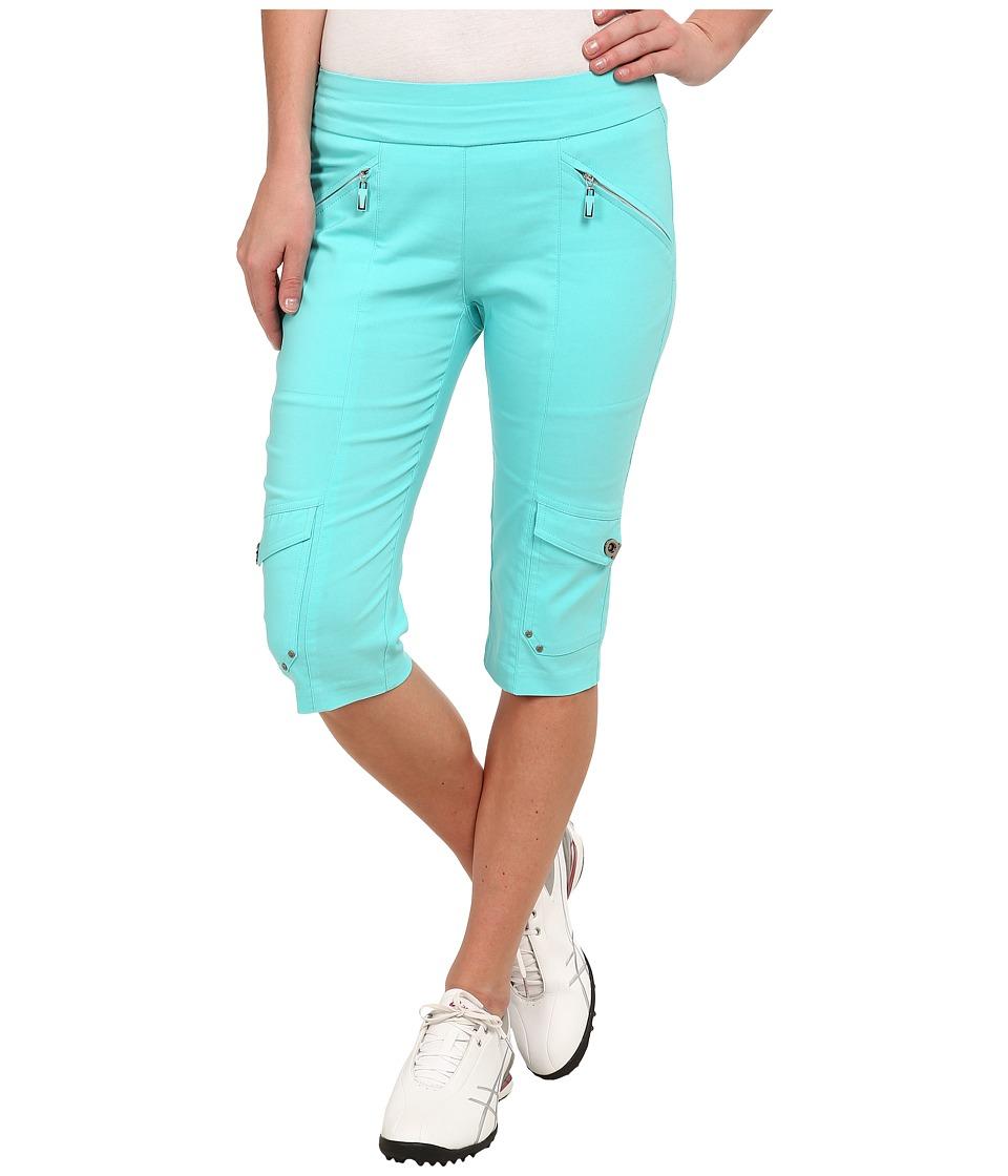 Jamie Sadock - Skinnylicious 24 in. Knee Capri (Aquadesiac Blue) Women's Capri