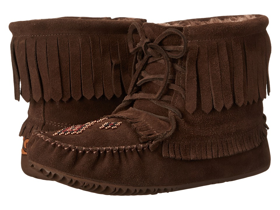 Manitobah Mukluks Harvester Moccasin Lined (Chocolate) Women