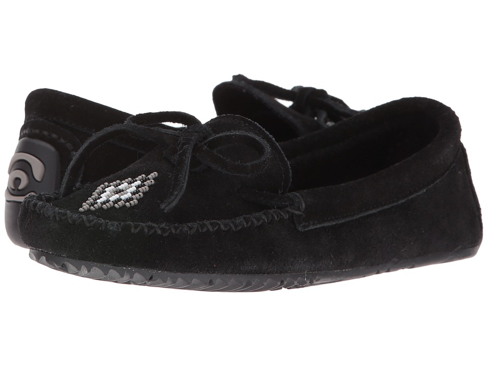 Manitobah Mukluks - Canoe Moccasin Suede (Black) Women's Moccasin Shoes