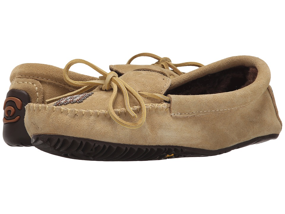 Manitobah Mukluks - Canoe Moccasin Suede Lined (Tan) Women's Boots