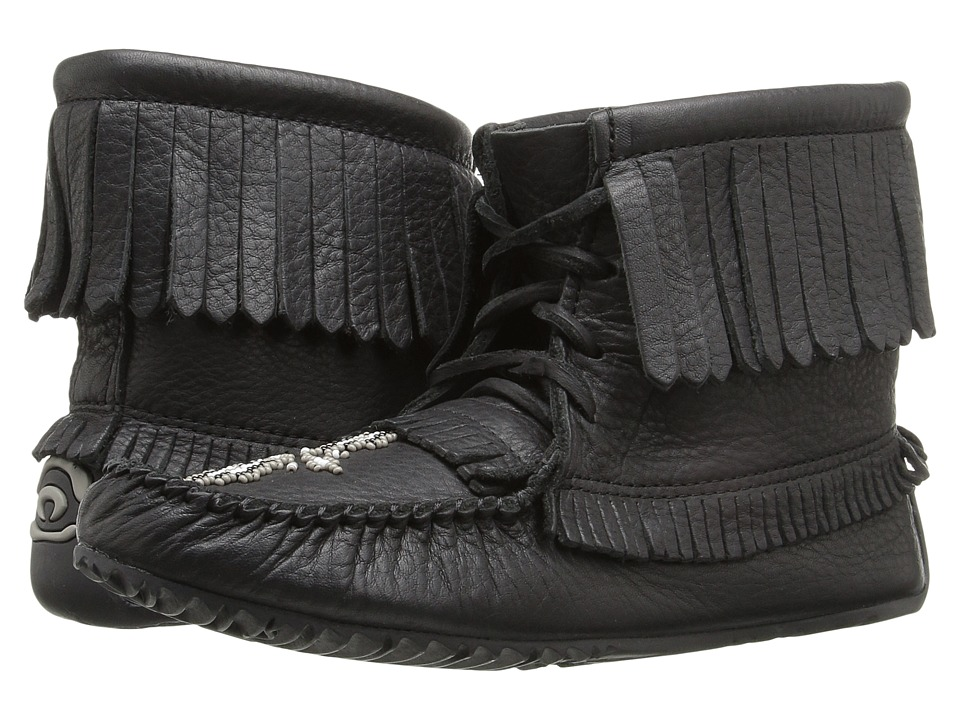 Manitobah Mukluks - Harvester Moccasin Grain (Black) Women's Lace-up Boots