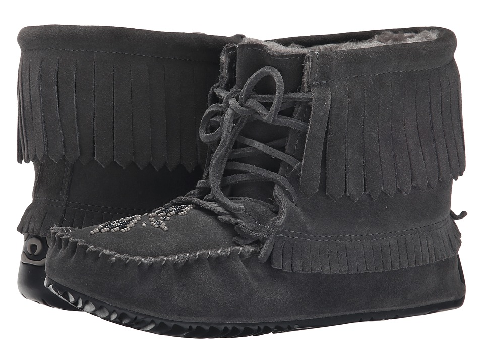 Manitobah Mukluks - Harvester Moccasin Lined (Charcoal) Women's Boots