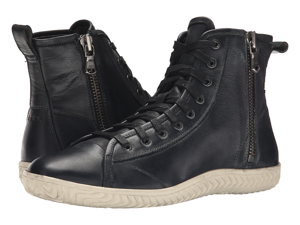 John Varvatos - Hattan Hi Top (Mineral Black) Men
