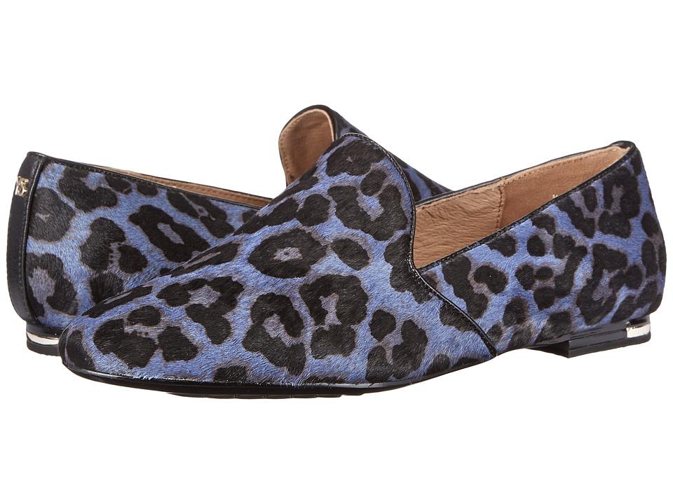 Yosi Samra - Preslie Calf Hair Slipper (Blue Velvet Jaguar) Women