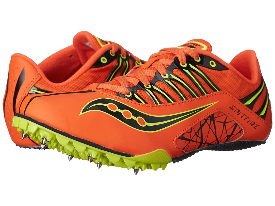 Saucony - Spitfire (Orange/Citron/Black) Men's Running Shoes