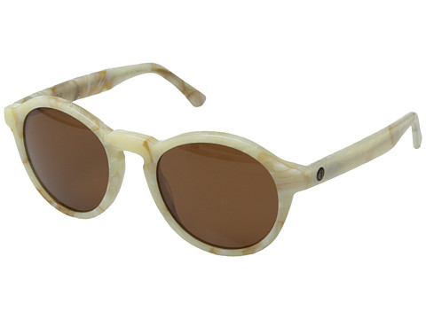 Electric Eyewear - Reprise (White Marble/Melanin Bronze) Sport Sunglasses