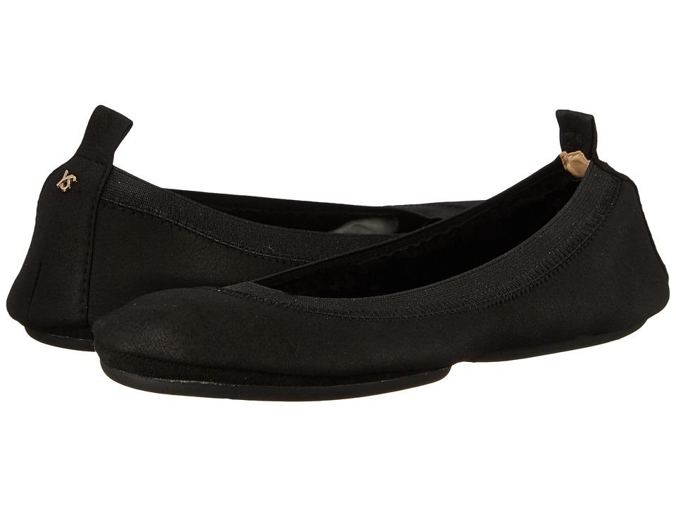 Yosi Samra - Samara Shearling Nappa Fold Up Flat (Black) Women