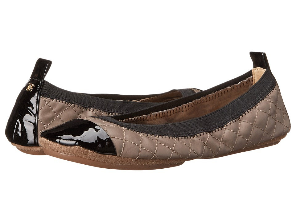 Yosi Samra - Samantha Quilted Leather Fold Up Flat (Mink/Black) Women