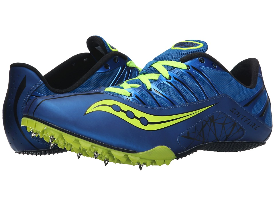 Saucony - Spitfire (Royal/Citron) Men's Running Shoes