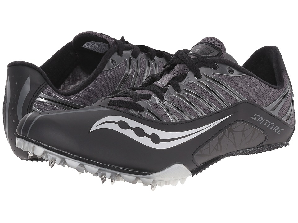 Saucony - Spitfire (Black/Grey) Men's Running Shoes