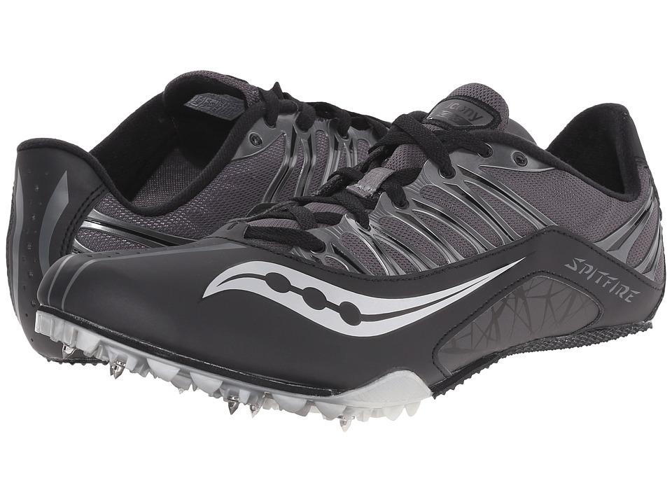 Saucony - Spitfire (Black/Grey) Men's Running Shoes